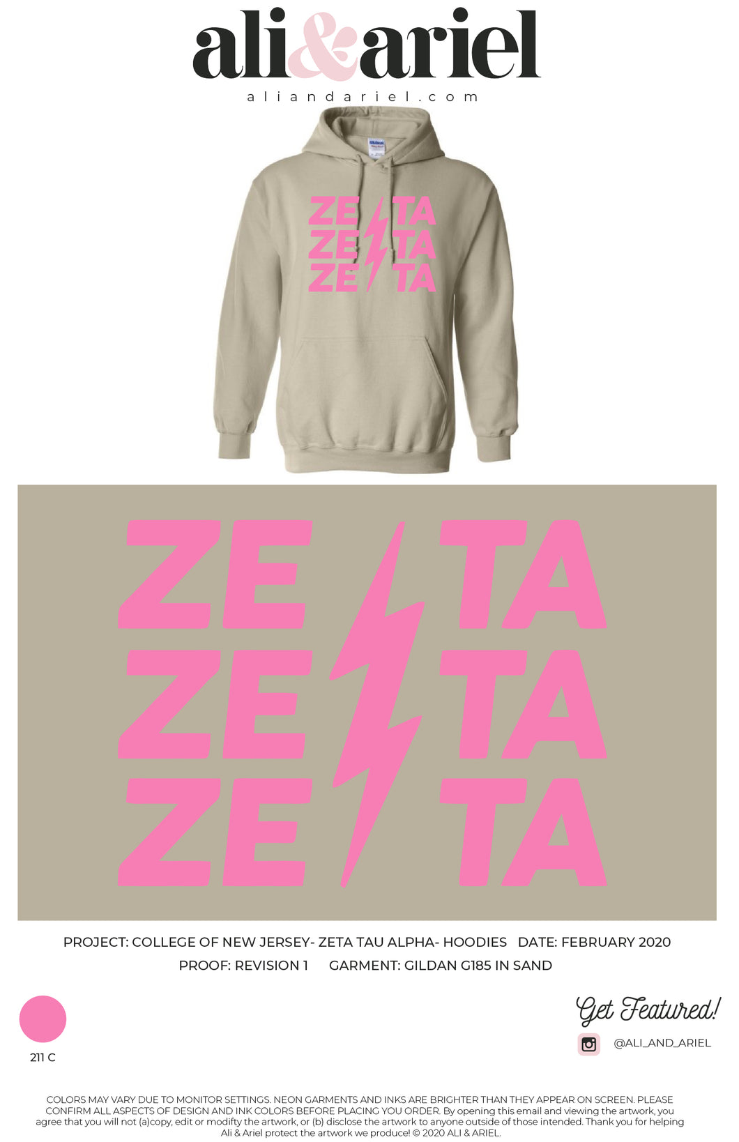 The College of New Jersey- Zeta Tau Alpha- Hoodies