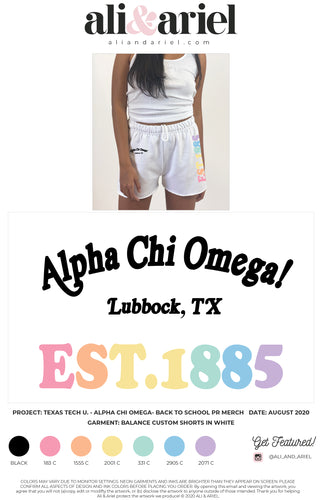 Texas Tech- AXO- Back To School Merch- Shorts