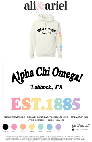 Texas Tech- AXO- Back To School Merch- Hoodie