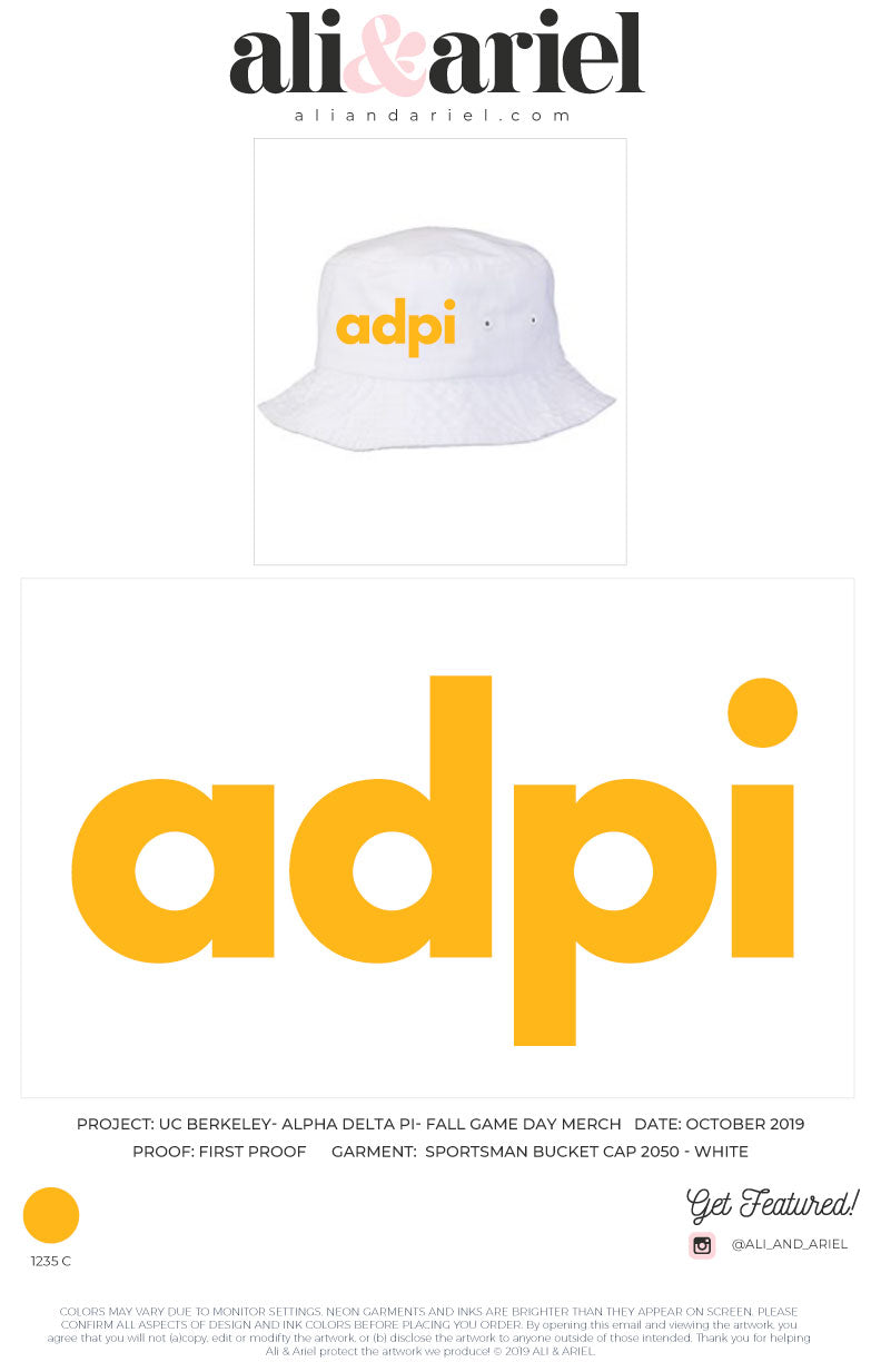 UC Berkeley- ADPi- Bucket Hat