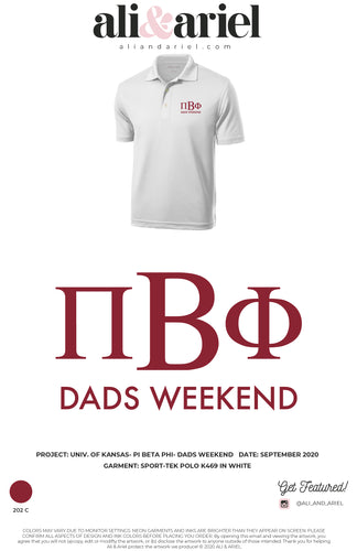 POLOS. KU- Pi Beta Phi- Dads Weekend