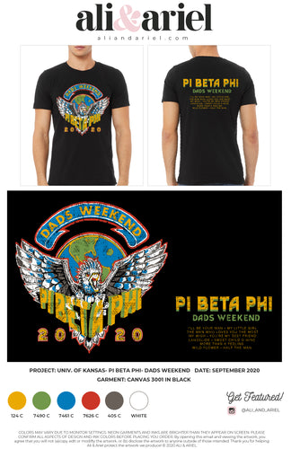 TEES. KU- Pi Beta Phi- Dads Weekend