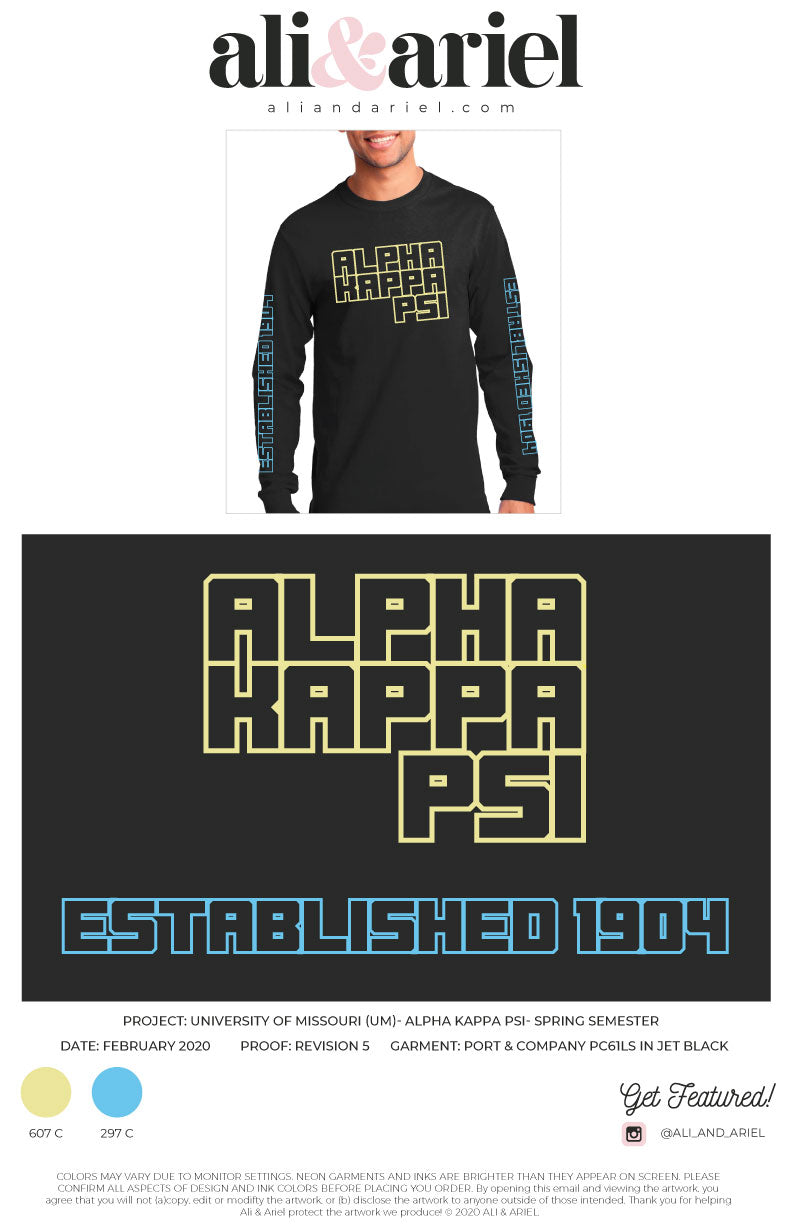 University of Missouri-Alpha Kappa Psi-Long Sleeve