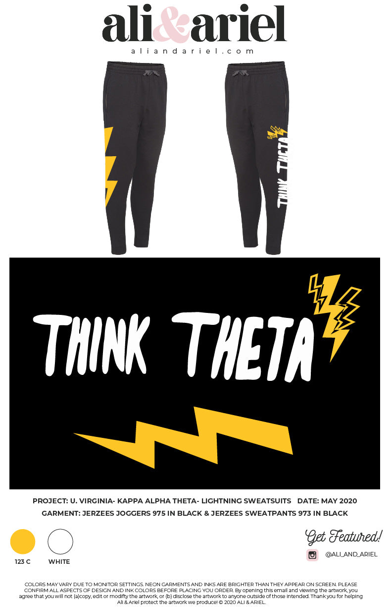 University of VA- Theta- Think Theta Joggers