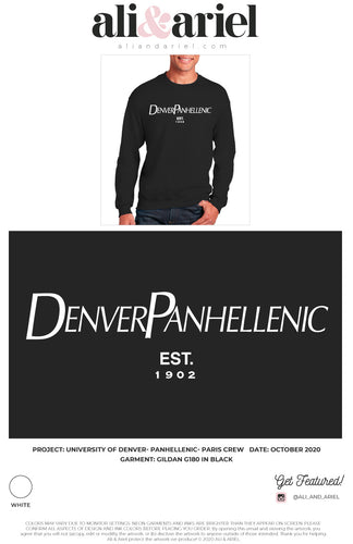 University of Denver- Panhellenic- Paris Crewneck