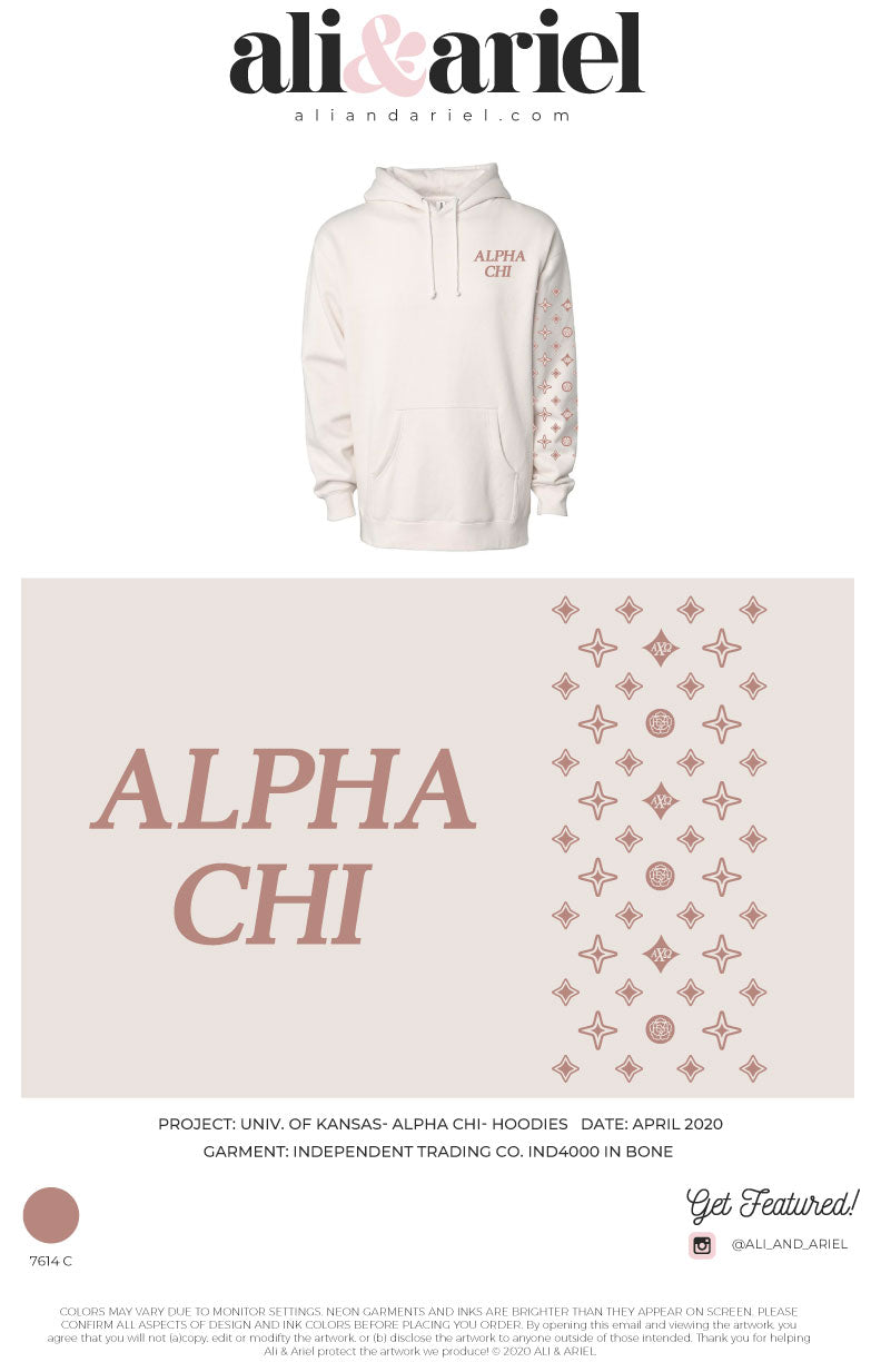 University of Kansas- Alpha Chi- Spring PR Hoodies