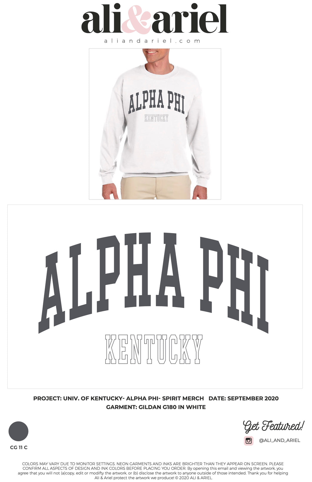 CREWNECKS. UKY- Alpha Phi- Spirit Merch