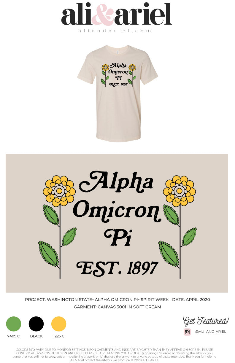 Washington State- Alpha Omicron Pi- Spirit Week '20