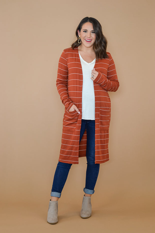 Stripes For Days Cardigan- Small- XL