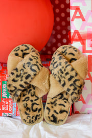 Leopard Slippers- Taupe