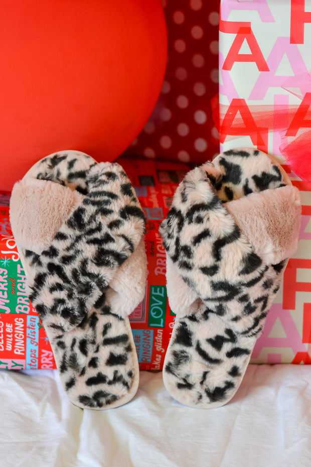 Leopard Slippers- Pink