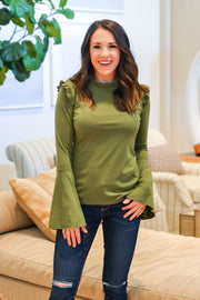 Ready For The Weekend Top- Olive