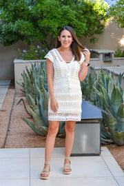 Sunny Days Dress/ Cover Up- White