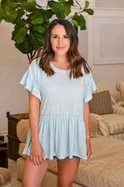 Coast To Coast Top- Aqua