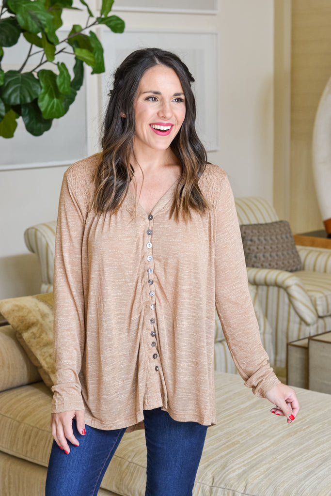 Holding Onto Fall Top- Final Sale