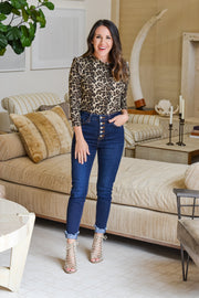 On The Verge Leopard Top