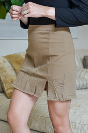 Talk Of The Town Skirt- Camel