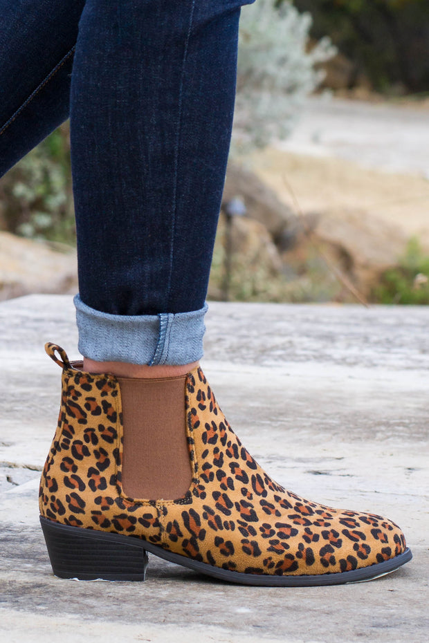 Leopard Chelsea Booties- Final Sale