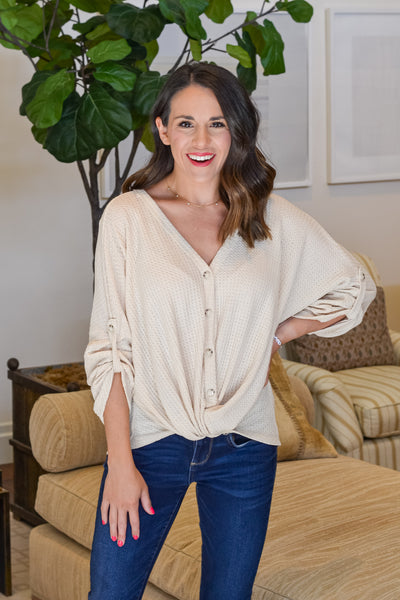 Fall Vibes Top- Cream