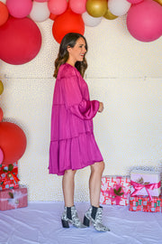 On The Move Dress- Raspberry