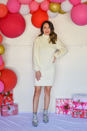 Making Moves Sweater Dress- Cream
