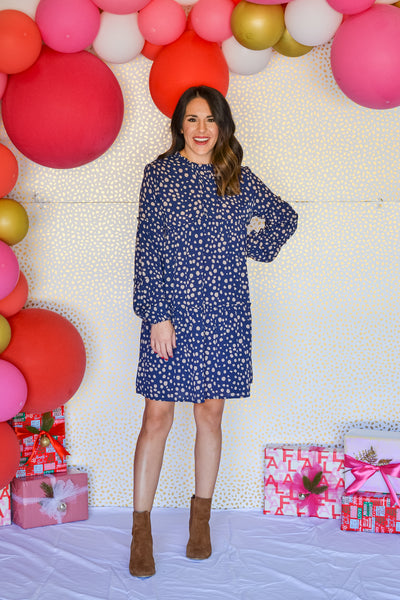 Around Town Dress- Navy