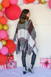 Pop Of Plaid Poncho