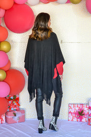 Date Night Ready Poncho- Black