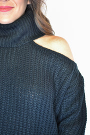 All About It Sweater- Black