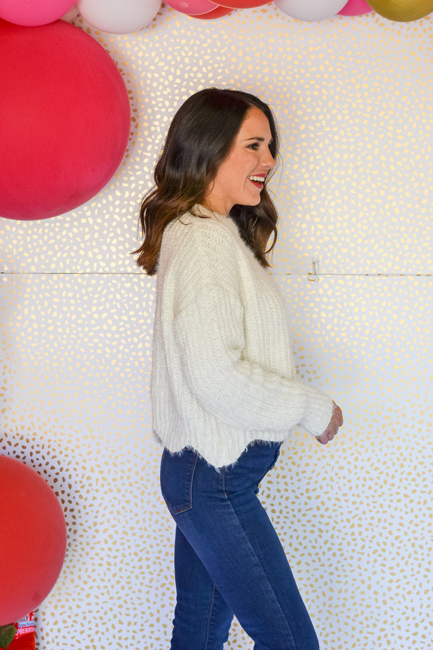 Saved By Grace Sweater- Ivory