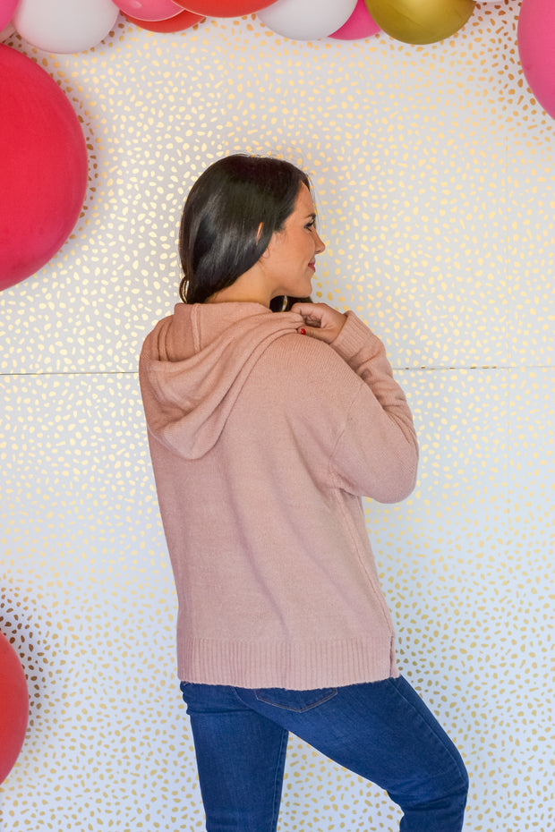 Made For This Hooded Sweater- Pink