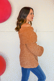 Heading Home Sweater- Camel