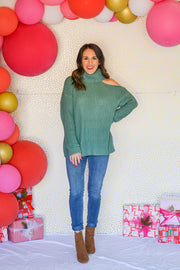 All About It Sweater- Jade