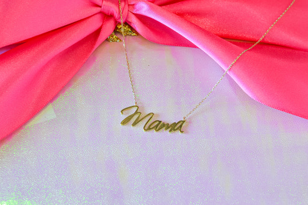 Mama Necklace- Sterling Silver