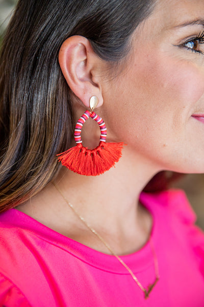 Weekend Ready Earrings- Red Mix
