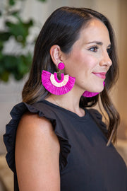 Vacation Mode Earrings- Pink