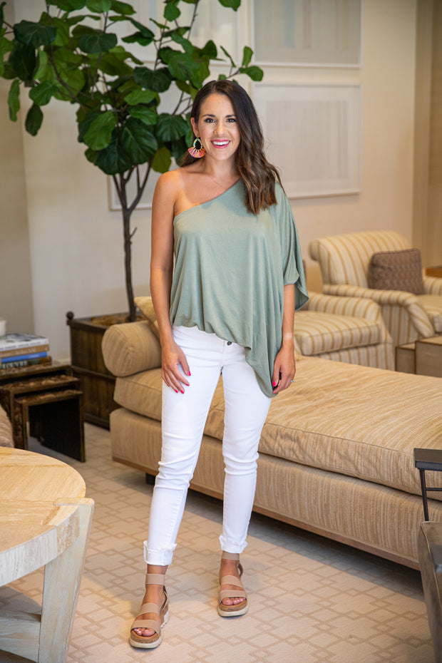Date Night Top- Sage