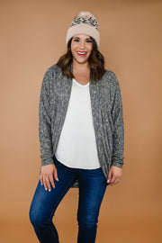 On The Go Cardigan- Grey