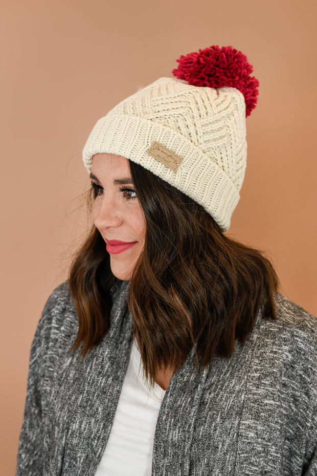 Do Everything In Love Beanie- Ivory