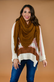 Classic Blanket Scarf- Camel