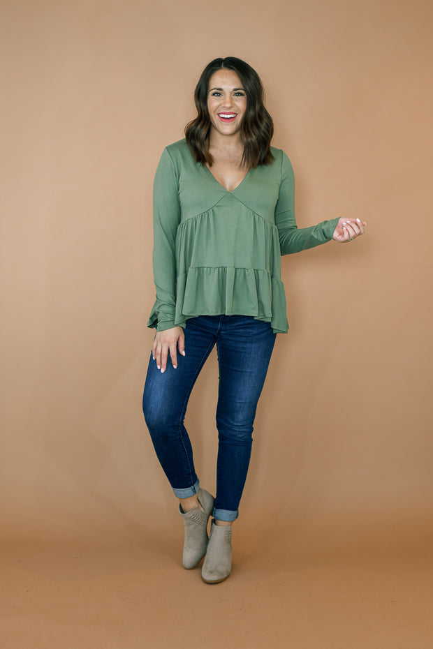 Winter Blues Top- Aqua