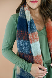 Plaid Fringe Scarf- Mint Mix