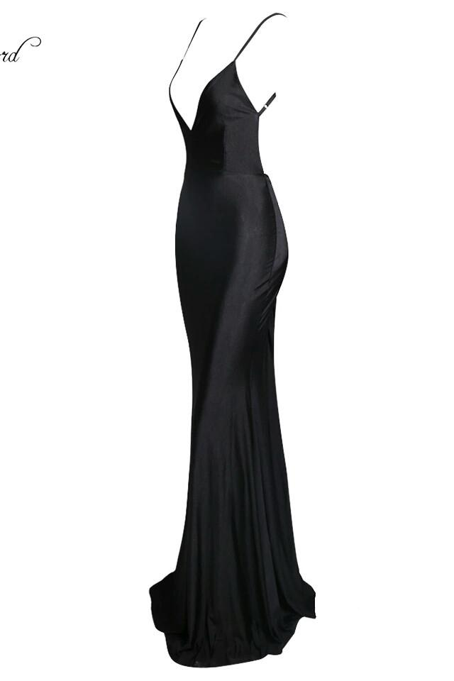 Dolly Black Deep Plunge Gown