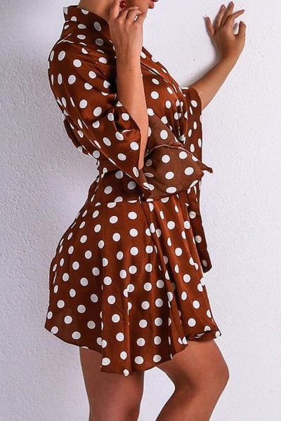 b877153a59d Bethany Brown Polka Dot Playsuit – Sister Saint London