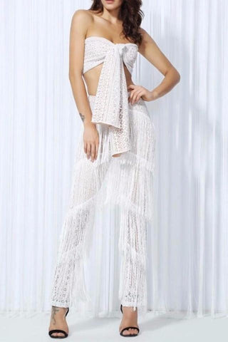 Perry White Tassel Two - Piece