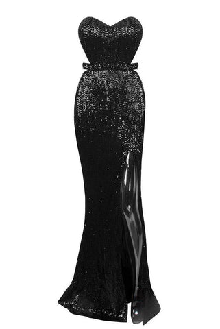 Sani Black Sweetheart Neckline Gown