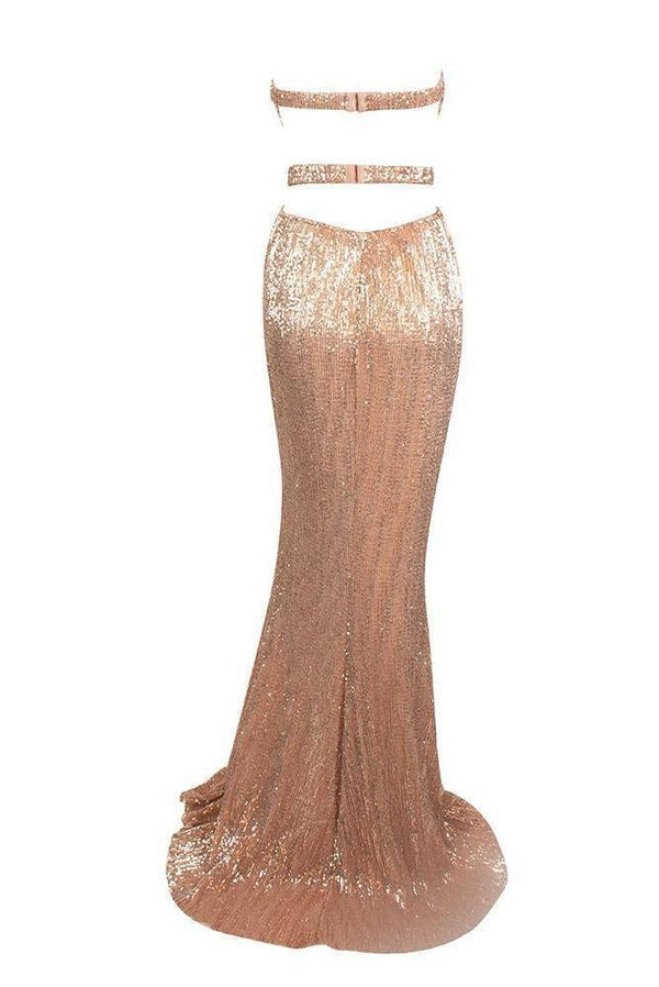 Sani Blush Sweetheart Neckline Gown