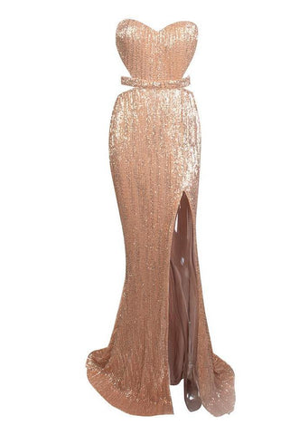 Sani Rose Gold Sweetheart Neckline Gown