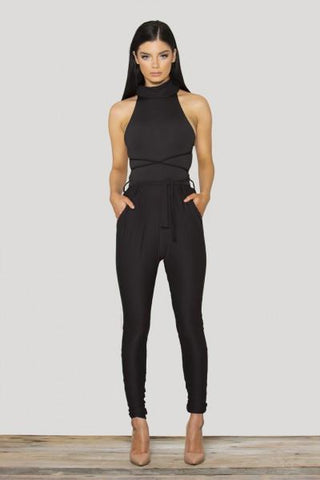 Monica Black High Neck Multi - Way Jumpsuit