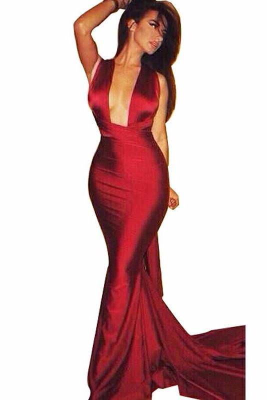 Asia Red Satin Multi - Way Gown